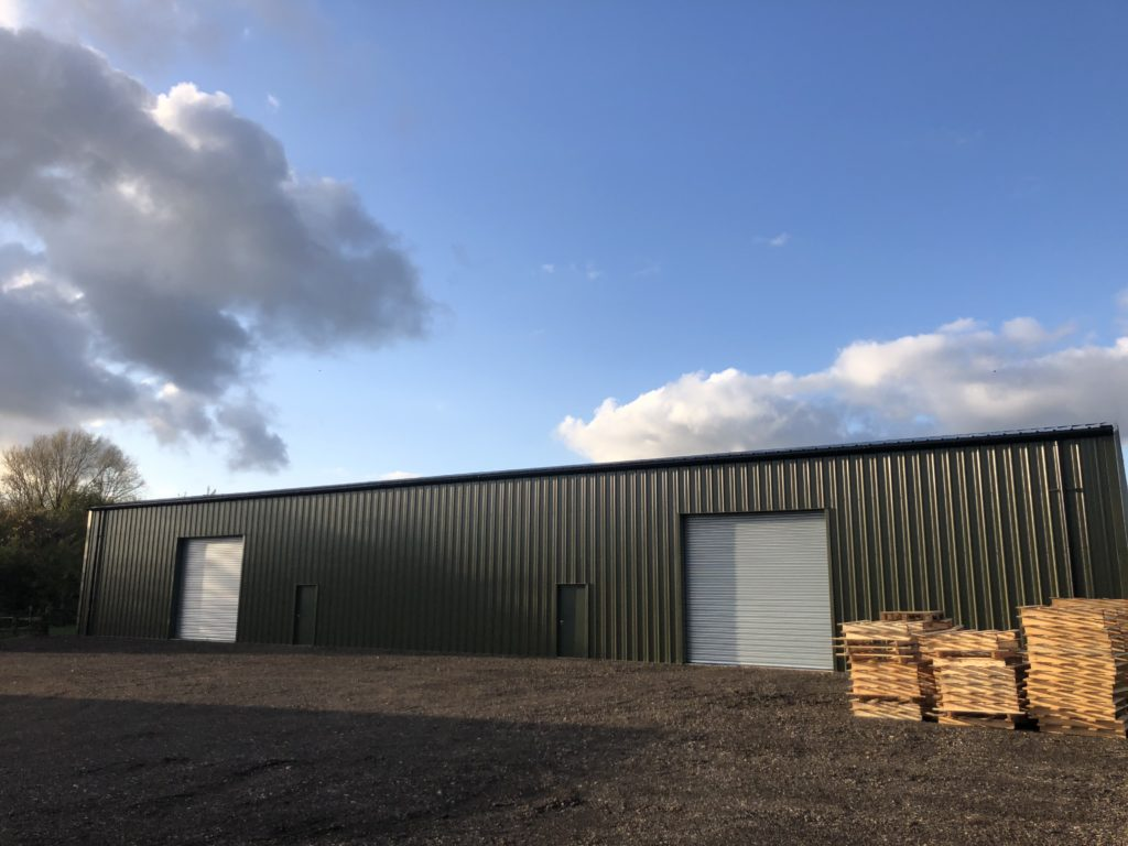 Newly installed industrial unit in olive green colour
